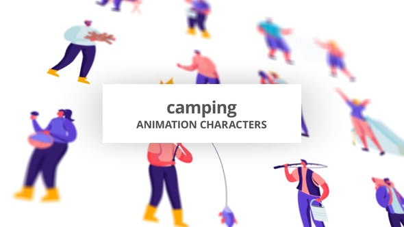Videohive Camping - Character Set 28672337