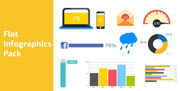 Videohive Flat Infographics Pack 12678416