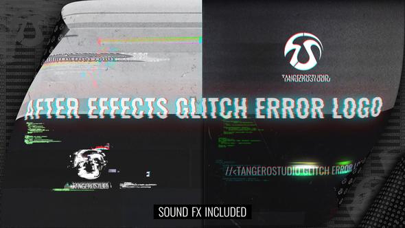 Videohive Glitch Error Logo 28285086