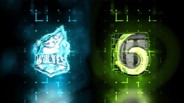 Videohive Glow Glitchy Logo Reveal 24650777