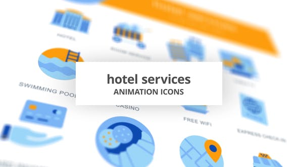 Videohive Hotel Services - Animation Icons 28168274