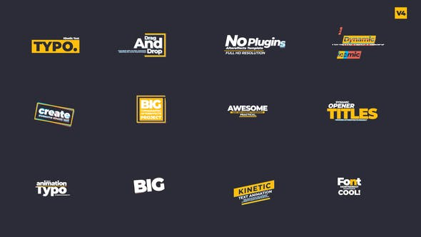 Videohive Kinetic Text Animations V 0.4 27691398
