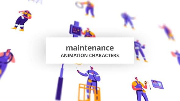 Videohive Maintenance - Character Set 28672388