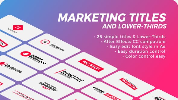 Videohive Marketing Titles - Lower-Thirds 28117505