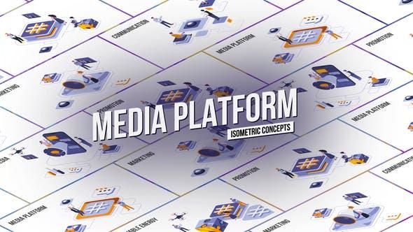 Videohive Media platform - Isometric Concept 28986908