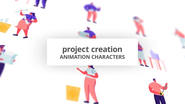 Videohive Project Creation - Character Set 28672421