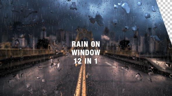 Videohive Rain on Window Pack 15768273