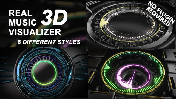 Videohive Real 3D Music Visualizer 14525186