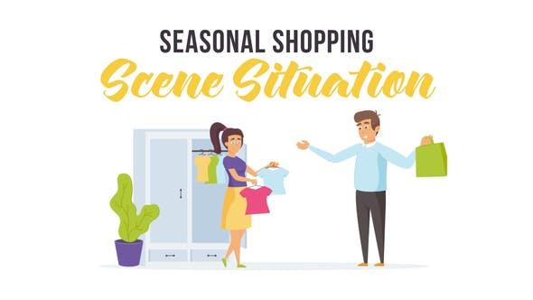 Videohive Seasonal shopping - Scene Situation 28256325