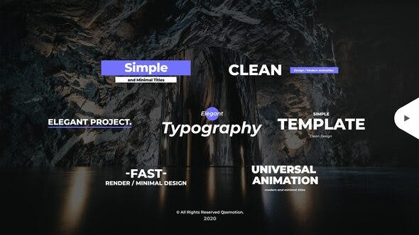 Videohive Simple and Minimal Titles Pack 28508943