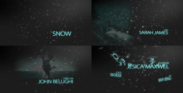 Videohive Snow Blockbuster Titles 9329501
