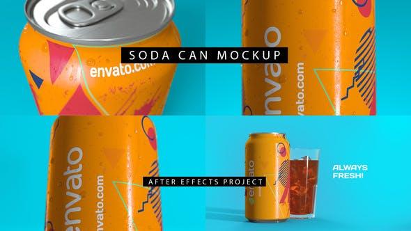 Videohive Soda Can Mockup 4K 28384896