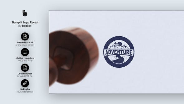 Videohive Stamp It Logo Reveal 26239668