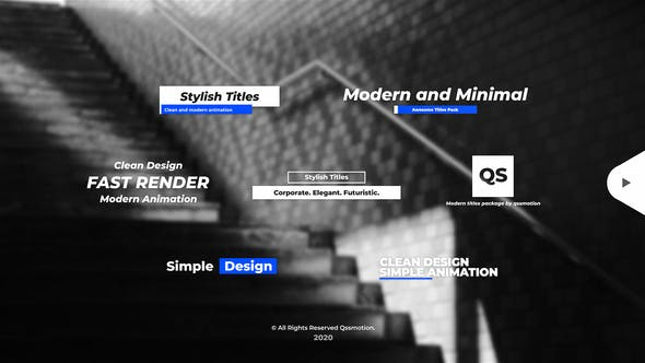 Videohive Stylish and Minimal Titles Pack 28448310