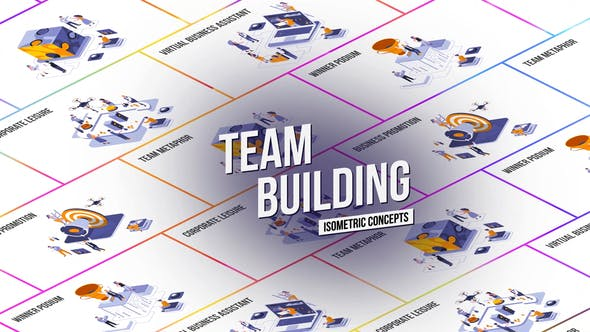 Videohive Team Building - Isometric Concept 27458631