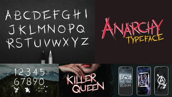 Videohive Anarchy Animated Typeface 26449617