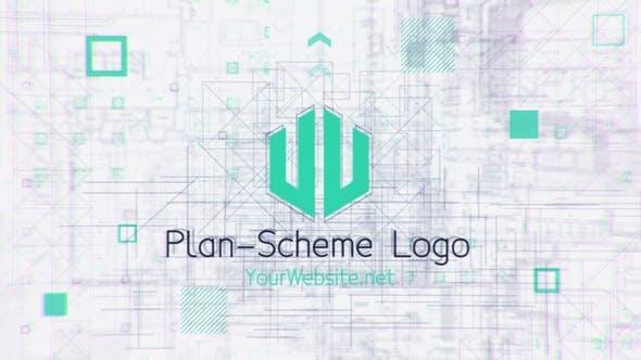 Videohive Blueprint Scheme Logo 27692280