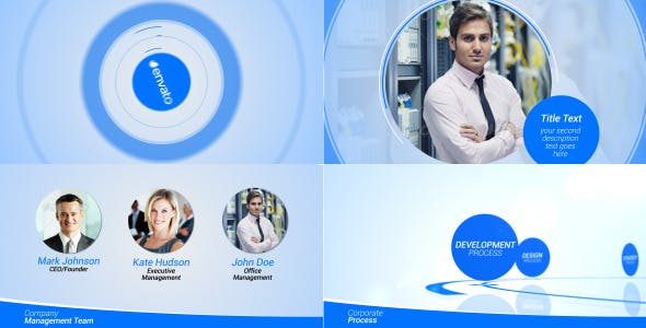 Videohive Circle Corporate Pack 7342848