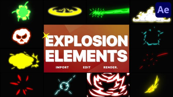 Videohive Explosion Elements 29001474
