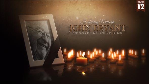 Videohive Funeral Memorial Card 26645454