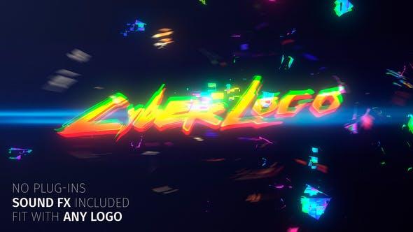 Videohive Glitch Cyber Logo 27600313