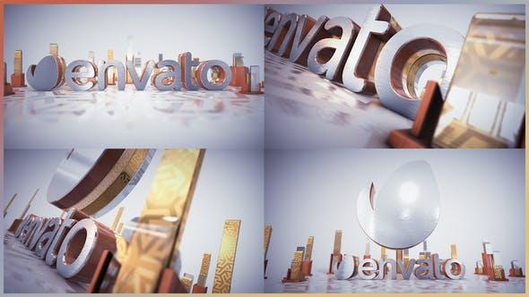 Videohive Golden Glass Intro 21916054