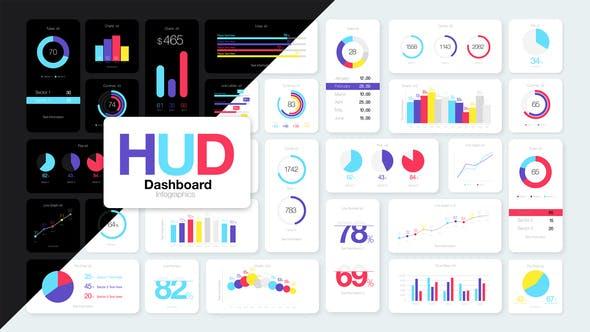 Videohive HUD Dashboard Infographics 27449314