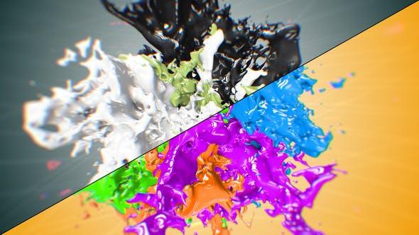 Videohive Liquid Paint Splash Logo 21663418