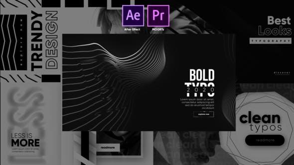 Videohive Monochrome Trendy Typography 27481747
