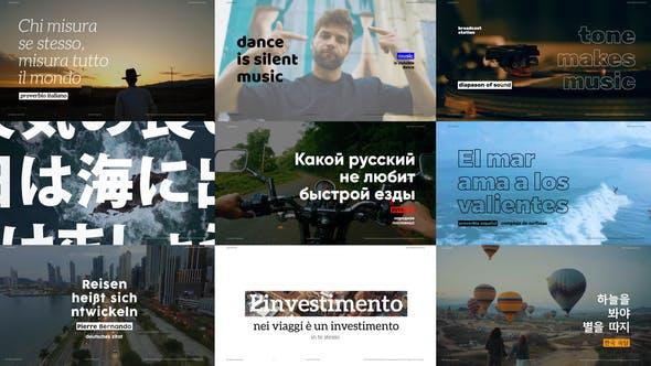 Videohive Motion Typography - Typography Promo 27749660