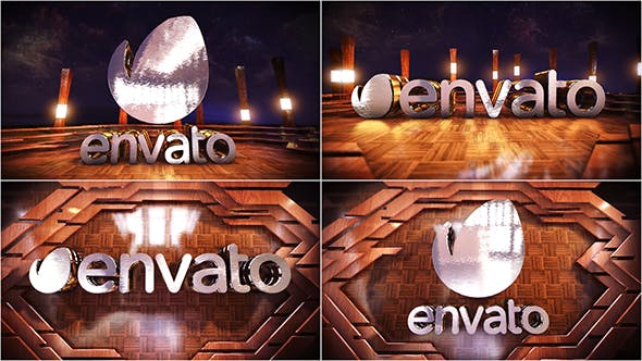 Videohive Wooden Logo Reveal 21428634